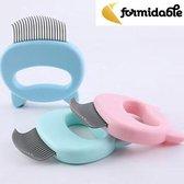 Kattenborstel - Kattenkam - Blauw - Verwijdert haren - gratis verzending - Katten - Hondenkam - Hondenborstel