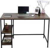 Bureau Stoer - computertafel - industrieel design met opbergplanken