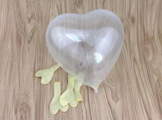 Doorzichtige hartje Ballon - 12 cm - Decoratie ballon