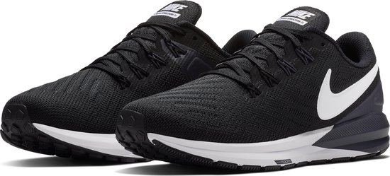 Nike Air Zoom Structure 22 Dames Sportschoenen - Black/White-Gridiron -  Maat 40.5