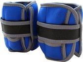 ScSports - Manchetten -Enkelgewichten - Polsgewichten set 4 kg - 2 x 2 kg - Blauw