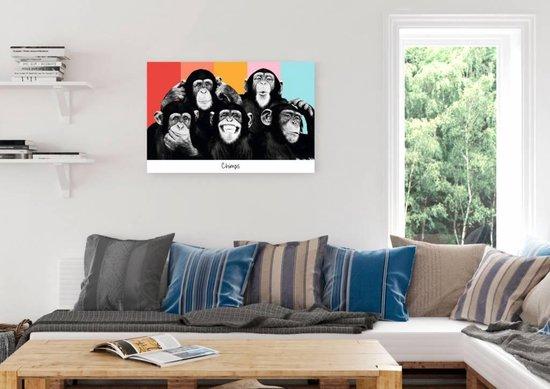 Reinders Schilderij The Chimp - compilation - Deco Panel - 90 x 60 cm - no. 23226 - Reinders