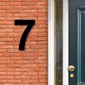 Huisnummer Acryl zwart, cijfer 7, Hoogte 16cm | Huisnummer plexiglas | Huisnummer modern | Huisnummer kopen | Topkwaliteit | Gratis verzending!