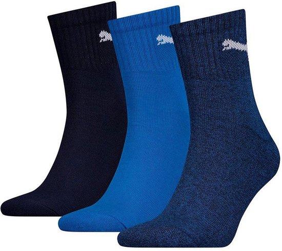 Puma Sportsokken - Maat 35-38 - Unisex - navy/blauw/wit 9-pack
