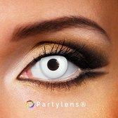 Partylenzen - White Out - jaarlenzen met lenshouder - kleurlenzen Partylens®