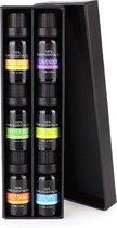 JAP Etherische Oliën - Essentiele olie aroma diffuser - Giftbox set 6 stuks