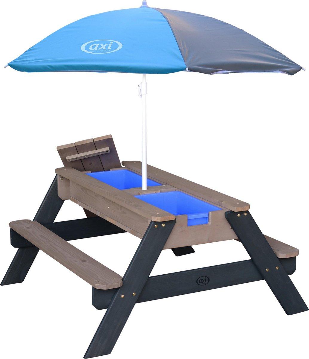 AXI Nick Zand & Water Picknicktafel Antraciet/grijs - Verstelbare Parasol   FSC Hout