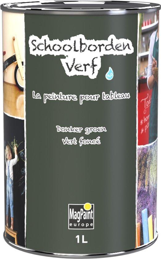 Schoolbordenverf 1.0 L (tot 10 m2) groen waterbasis, Krijtbordverf
