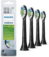 Philips Sonicare W2 Optimal White HX6064/11 - Opzetborstels - 4 stuks - Zwart