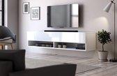 Hangend Tv Meubel Hoogglans Wit 140 cm - Modern Strak Design
