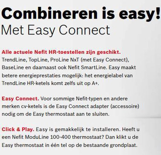Nefit Easy Slimme Thermostaat - Modulerend