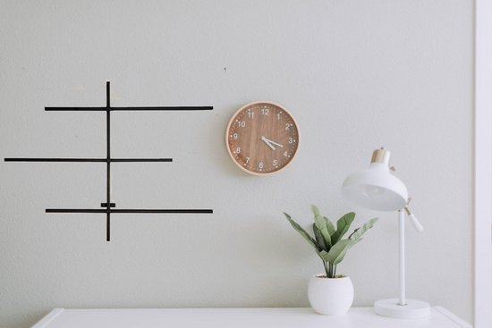 Zwart metalen tijdschriftenrek voor aan de wand of muur