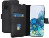 Lelycase Echt Lederen Booktype Samsung Galaxy S20 Plus hoesje - Zwart