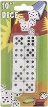 Witte Dobbelstenen in verpakking - 10 STUKS - Luxe dobbelstenen - bordspel - yahtzee - monopoly - poker - dobbelen - kaartspel - spel - spelletjes - kleur WIT