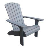 De onderhoudsvrije en comfortabele Adirondack stoel Belize - gerecycled kunststof polywood - grijs