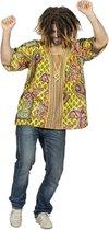 Hippie Kostuum | Woodstock Hippie Paisley Blouse Man | Maat 52 | Carnaval kostuum | Verkleedkleding