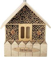 Luxe insectenhotel naturel - 14 x 20 x 30 cm - insectenhuis - natuur - bijenhotel - vlinderhuis - insecten - egel - tuindecoratie