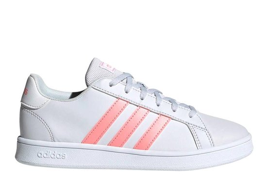 adidas Grand Court sneakers meisjes wit/flamingo