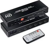 SBVR CHJ1 | 4 x 2 HDMI Matrix -  Switch & Splitter incl. Afstandsbediening | 3D | 4K@60 Hz