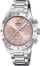 Festina F20397/3 Boyfriend Collection Chronograaf - Polshorloge - Staal - Zilverkleurig - Ø 38,5mm