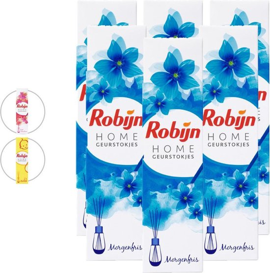 Robijn Geurstokjes Morgenfris - Voordeelverpakking 6 Stuks