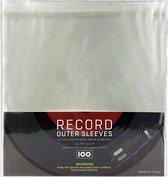 Hersluitbare LP beschermhoezen - platenhoezen - vinyl hoes - 12'' - set van 100 stuks