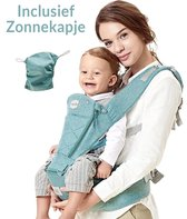 Toddly Baby Draagzak - met Zacht Zitje en Zonkapje - Getest tot 50kg