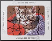 Weible chocolade puzzel kitten - 17,5 x 14 cm