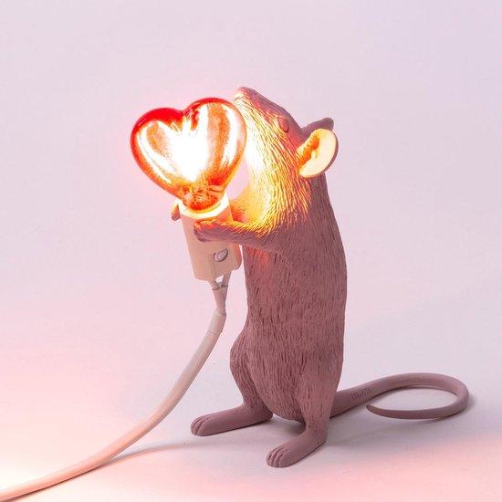 Seletti Mouse lamp - Love/roze staand
