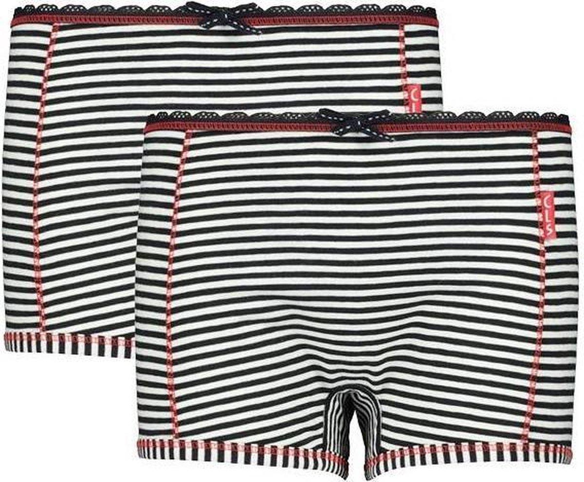 Claesen's Meisjes Boxershort - Navy/White Stripes - Maat 164-170