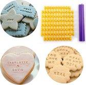 WiseGoods Luxe Koekjes Alfabet Stempel - Alfabet / Nummers - Cookie Pers - Fondant Stempel - Cake / Bakken Gereedschap Tools