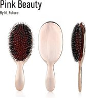 Haarborstel - Limited Edition – Roze - Varkenshaar – Teezer Brush - BN1 Popular Bristle & Nylon Haarborstel – Anti Klit – Glanzend Haar – Borstel – Tangle Teezer – Styling Borstel – Krullend Haar – Lang Haar – Salon Pro – Hair Extensions