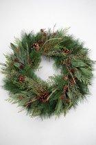 Viv! Home Luxuries Kerstkrans - groen met dennenappels - 60cm - topkwaliteit