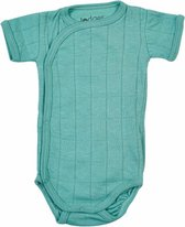 Lodger Baby Korte Mouw Romper Solid -  Groen -  74