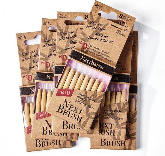NextBrush - Interdentale ragers van bamboe – 48 stuks - ISO 0 - 1,9 mm - (Melamine-vrij)
