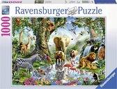 Ravensburger puzzel Avonturen in de jungle - Legpuzzel - 1000 stukjes