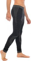 Thermo broek ondergoed lang voor heren zwart melange - Wintersport kleding - Thermokleding - Lange thermo broek XXL (56)