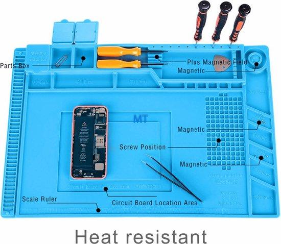 Magnetische Reparatie Mat/ werkmat telefoons, tablets en andere kleine elektronica