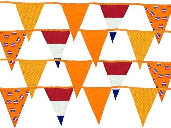 Vlaggenlijn Textiel 14 vlaggen 8,5 mtr Oranje
