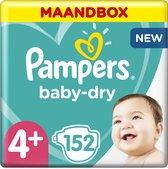 Pampers Baby-Dry Luiers - Maat 4+ (10-15 kg) - 152
