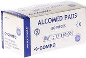 50x alcohol pads Comed - Alternatief handgel- Alcohol doekjes 50x stuks - desinfectie doekjes - Reinigingsdoekjes voor beeldsche