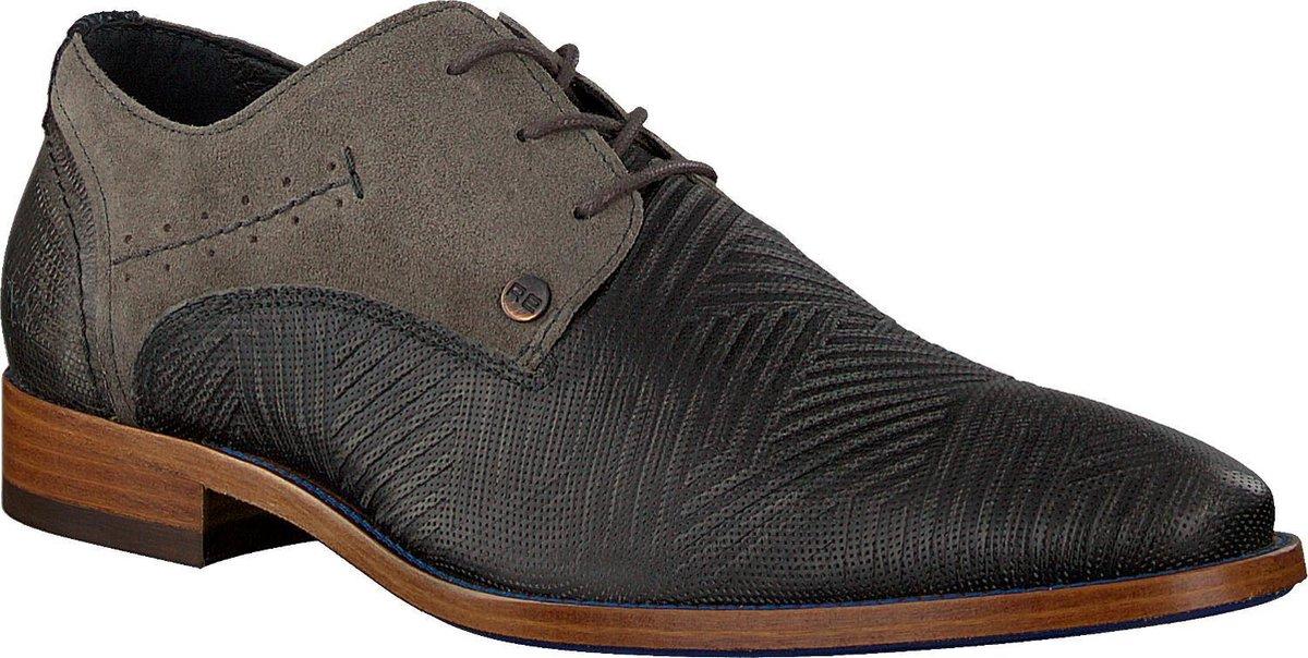Rehab Heren Nette schoenen Solo Zigzag - Grijs - Maat 43 Veterschoenen