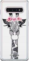 Samsung Galaxy s10 siliconen telefoonhoesje - Giraffe