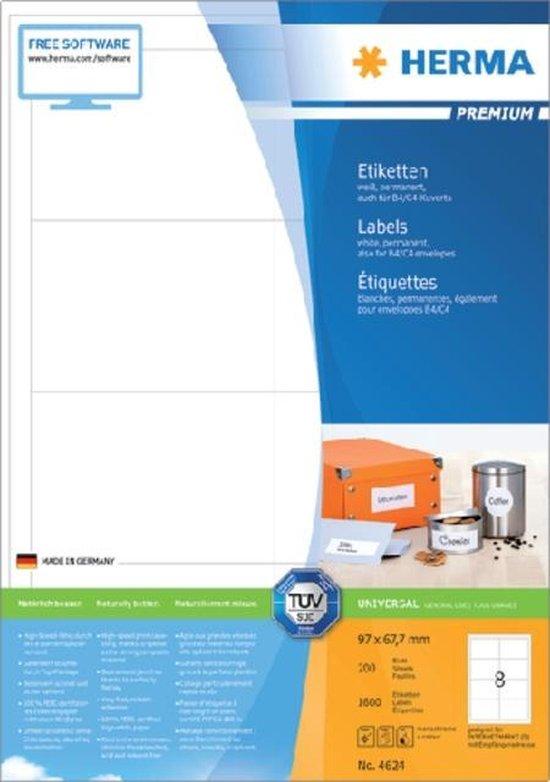 Herma Labels white 96,5x67,7 SuperPrint 1600 pcs.
