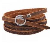 Armband- Dames- Bruin- Lederen- Wrap- Bruin- Heren-Aanbieding- Charme Bijoux®