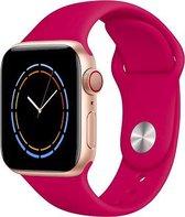 iWatch bandje – Granaatappel – 38/40 mm – Donker roze – Apple Watch – Sportbandje – Roze - S/M – Siliconen - Apple Watch Serie 3/2/1 – Apple Watch Serie 5/4