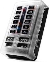 Luxe zekeringhouder 12 met led indicator