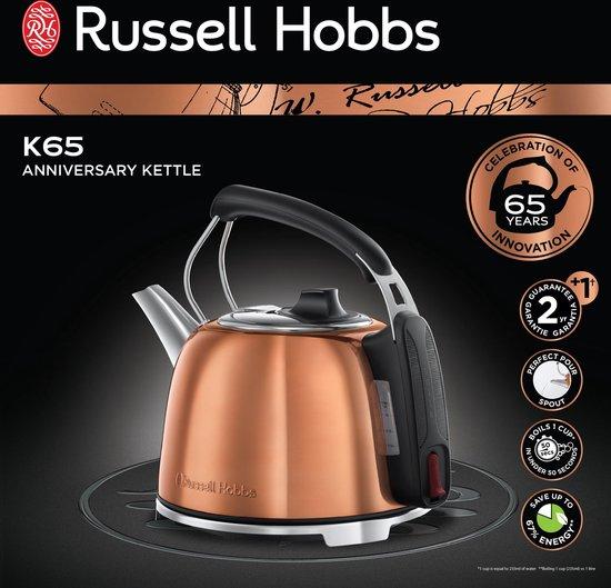 Russell Hobbs K65 Anniversary Waterkoker Koper 1,2 Liter 2400 Watt