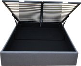 Celestine Ottoman Bedframe| Grijs | 140x200 | 700L Opbergruimte | Afneembaar Hoofdbord