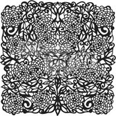 "Template 12x12"" 30x30cm flower tangle"